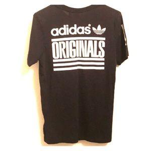 Adidas Mens 3Stripe T Shirt Size Small Black White